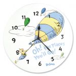 Wall Clock- Dr. Seuss Blue Oh, the Places You'll Go!