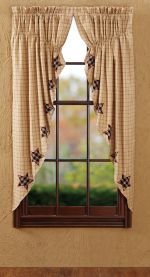Bingham Stars Lined Window Curtains