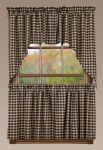 "Bingham Star Tier Plaid Set of 2 Quilted 24""x36"" Curtain"