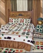 Bear's Paw Bedding by Patch Magic Quilts- Hand Quilted Pattern