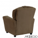 Brown Microfiber Kids Recliner with Cup Holder