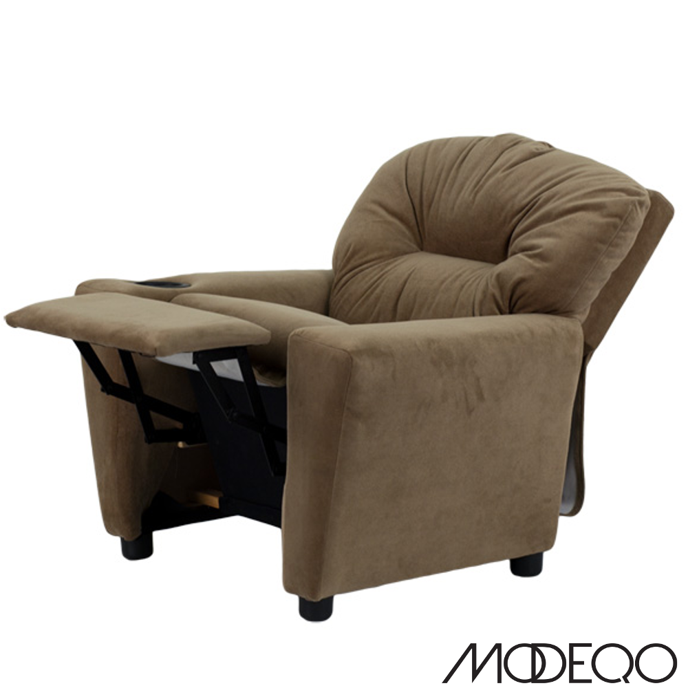 Brown Microfiber Kids Recliner with Cup Holder  sc 1 st  Modeqo : childrens recliner chairs - islam-shia.org
