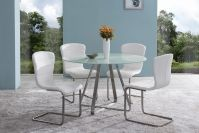 Cameos Modern Dining Table With Painted Glass Top