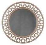 Carved Chain Circle Wall Mirror