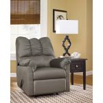 Contemporary Grey Fabric Rocker Recliner
