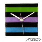 Cool-Color Glass Square Wall Clock