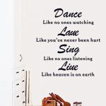 Dance-Love-Sing-Live Vinyl Wall Decal