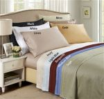 Egyptian Cotton Sheets- 650 Thread Count Solid Sheet Sets