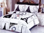 Eiffel Themed Queen Duvet Cover Set