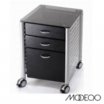 Glass Top Mobile File Cabinet