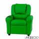 Green Vinyl Kids Recliner With Cup Holder