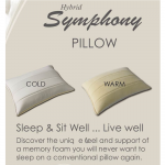 Hybrid Symphony Memory Foam Pillow By Abripedic