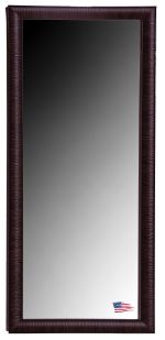 "Maple and Brown Ribbed Tall Mirror 63.25"" x 28.25"""