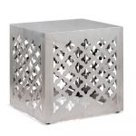Moroccan Square Stainless Steel Stool