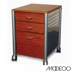Mobile Metal/Wood File Cabinet