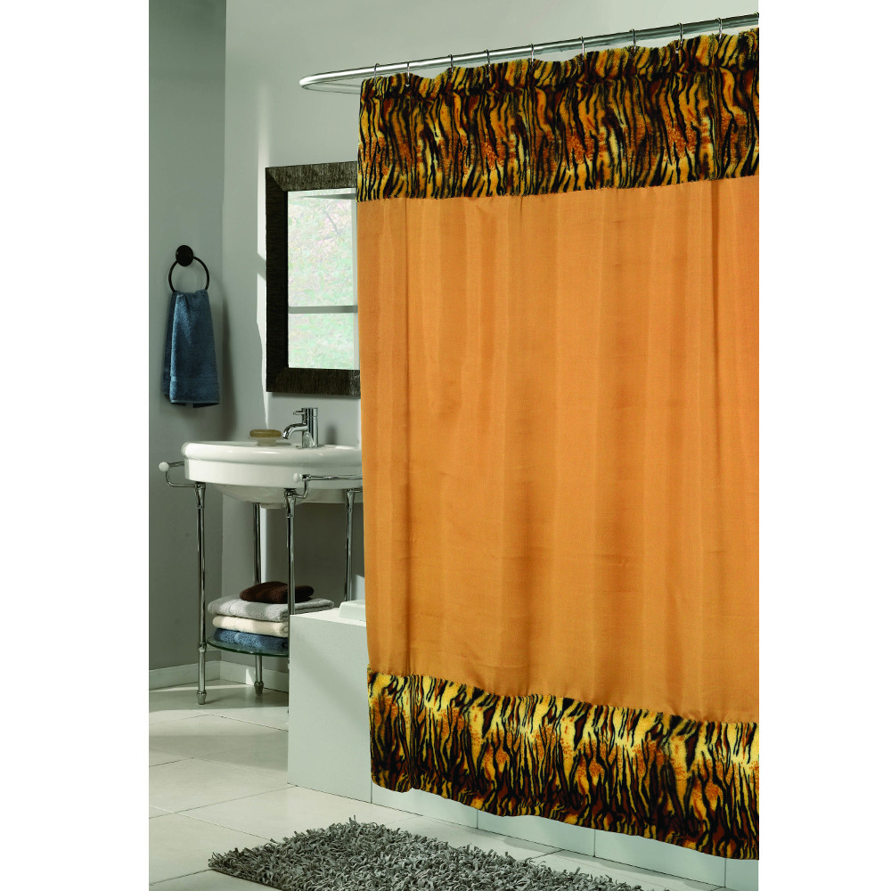 Faux leather curtains