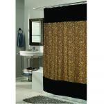 Sable Faux Fur Border Shower Curtain
