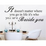 Who's Beside You Vinyl Wall Decal Quote
