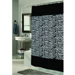 Zebra Print With Faux Fur Border Shower Curtain