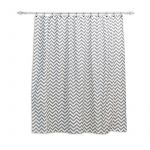 "Zig Zag Ash 72"" x 72"" Fabric Shower Curtain"