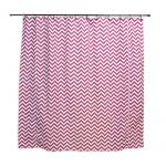 "Zig Zag Candy 72"" x 72"" Fabric Shower Curtain"