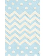 ZigZag and Dot Blue Kids Rug