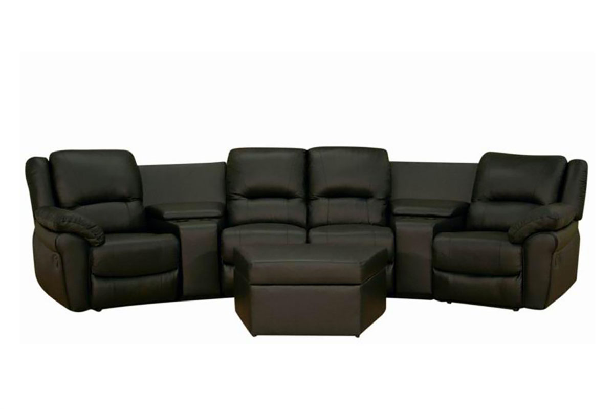 black-leather-4-seat-reclining-home-theater-seats.jpg  sc 1 st  Modeqo & Sundance Black Leather 4-Seat Home Theater Seats