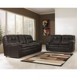 Brown Plush Leather Living Room Set