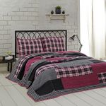Carly Hot Pink & Black Plaid Quilt
