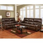 Chocolate Leather Reclining Sofa & Loveseat Set