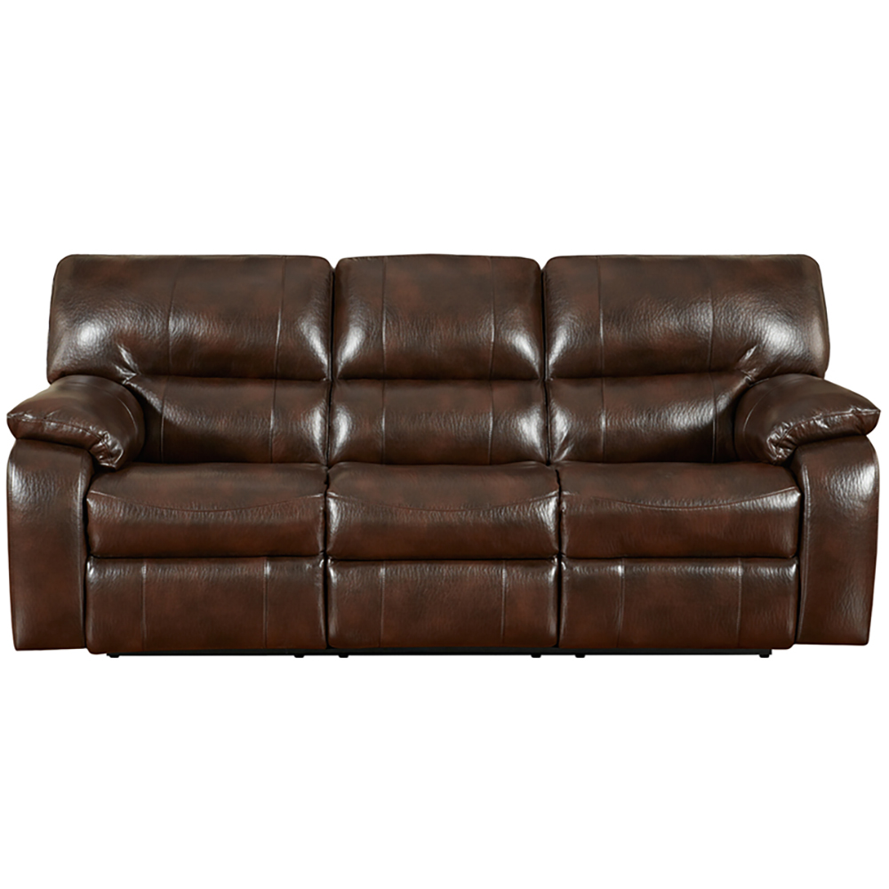 Chocolate Leather Reclining Sofa Loveseat Set