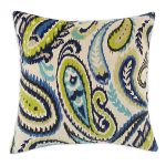 Ikat Navy 17-inch Throw Pillows