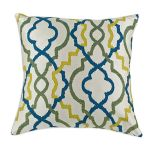 Coastal Caribbean 17 inch Throw Pillow