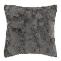 Luxe Charcoal 17 inch Decorative Throw Pillow