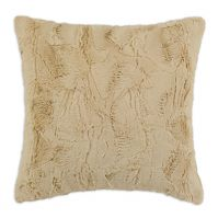 Luxe Camel 17-inch Square Pillow