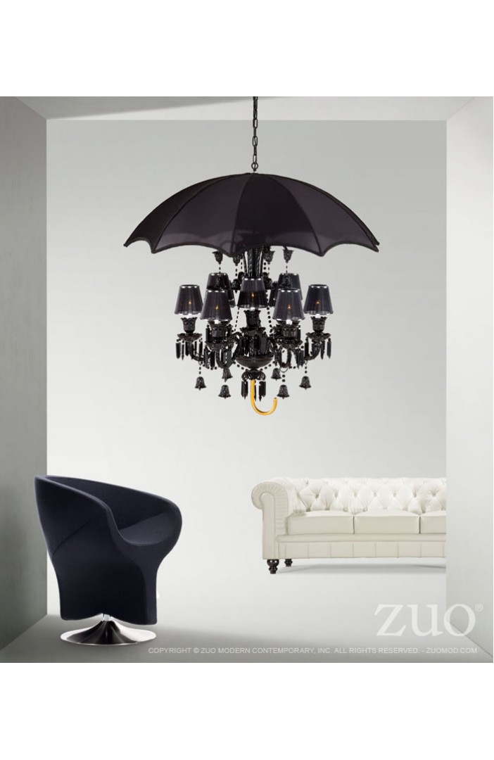 Mary Poppins Umbrella Chandelier