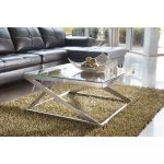 Modern Brushed Nickel Coffee Table