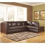 Modern Mahogany Durablend Leather Sectional Sofa