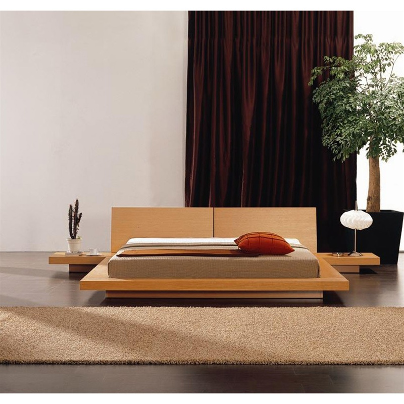 Modern Wooden Beds ~ Modern platform bed with headboard nightstands
