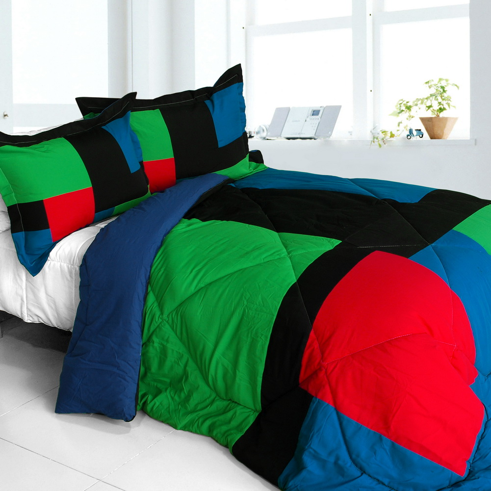 exclusive memory quilted patchwork down king comforter set