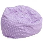 Oversized Lavender Polka Dots Bean Bag Chair