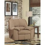 Plush Overstuffed Mocha Fabric Rocker Recliner
