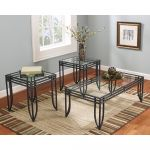 Welded 3 Pc Glass Top Coffee Table Set