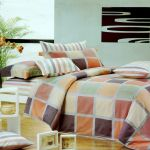 Modern Plaid 3PC Twin Size Comforter Cover/Duvet Cover Set