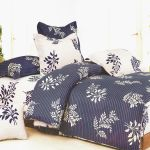 Purple Gray Flourish Twin Size 5PC Bed In A Bag