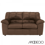 Contemporary Loveseat in Plush Fabric (Fabric Color: Tan)