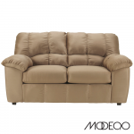 Contemporary Loveseat in Plush Fabric (Fabric Color: Mocha)